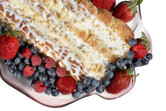 Breakfast fruit & pastry Royalty Free Stock Photography