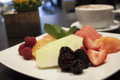 Breakfast fruit salad Stock Photo