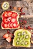 Breakfast fruit toast Stock Image