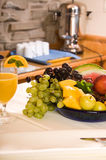 Breakfast Fruits. Fruits at breakfast for healthy eating and nutrition Stock Images