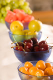Breakfast Fruits. Fruits at breakfast for healthy eating and nutrition Stock Photo