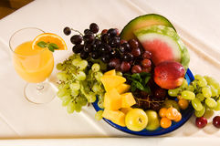 Breakfast Fruits. Fruits at breakfast for healthy eating and nutrition Royalty Free Stock Images