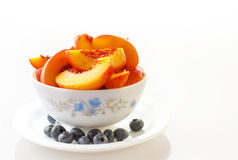 Breakfast with fruits Stock Photo