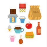 Breakfast. Full color flat design icon vector illustartion - stylized perspective Royalty Free Stock Image