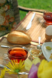 Breakfast in the garden. Royalty Free Stock Photography