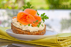 Breakfast in the garden Stock Images