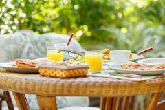 Breakfast in the garden Stock Photo