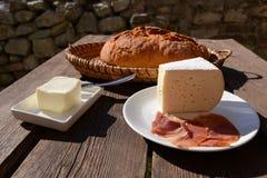 Breakfast in the garden Stock Image