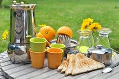 Breakfast in garden Stock Photos