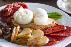 Breakfast go Spanish. Sumptuous and huge Spanish Breakfast royalty free stock photos