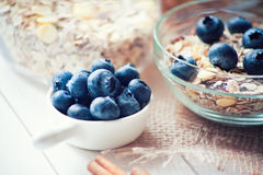 Breakfast with granola Royalty Free Stock Photo