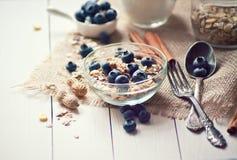 Breakfast with granola Stock Photos