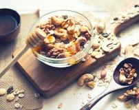 Breakfast with granola Stock Image