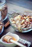 Breakfast with granola Stock Photography