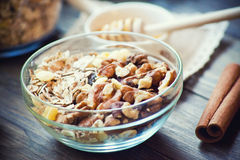 Breakfast with granola Royalty Free Stock Image