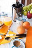 Breakfast With Grapefruit Juice Royalty Free Stock Images