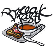 Breakfast handwriting Royalty Free Stock Photography