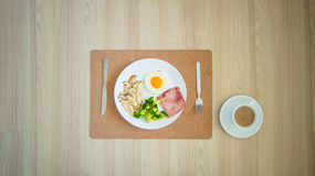 Breakfast high protein. royalty free stock photography