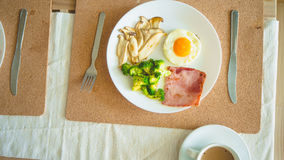 Breakfast high protein. royalty free stock photo