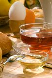 Breakfast with honey. Royalty Free Stock Images