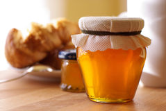Breakfast with honey Royalty Free Stock Photos