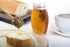 Breakfast with honey Stock Photography