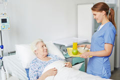 Breakfast in hospital Stock Images