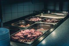Breakfast hot buffet Stock Photos