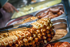 Breakfast hot buffet Royalty Free Stock Photography