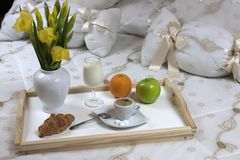 Breakfast  in a hotel Royalty Free Stock Image