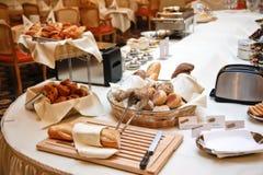 Breakfast in hotel Stock Image