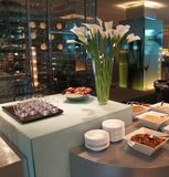 Breakfast in hotel Royalty Free Stock Photo