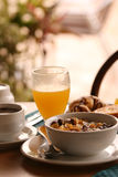 Breakfast in hotel Royalty Free Stock Photography