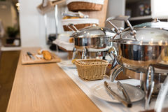 Breakfast in hotel, catering buffet Royalty Free Stock Photography