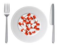 Breakfast hypochondriac Stock Images