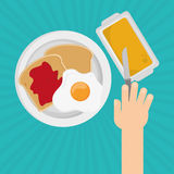 Breakfast icon design Stock Photography