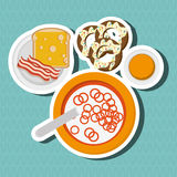 Breakfast icon design, Vector illustration. Breakfast concept with icon design, vector illustration 10 eps graphic royalty free illustration