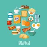 Breakfast Icon Flat Royalty Free Stock Photography