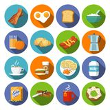 Breakfast icon flat Royalty Free Stock Photography