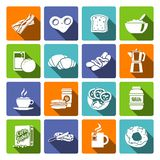 Breakfast icon flat Stock Photo