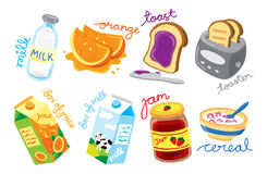 Breakfast icon Stock Images