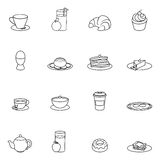 Breakfast icon outline Stock Photo