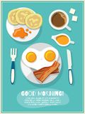 Breakfast icon poster Royalty Free Stock Image