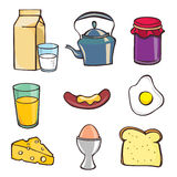 Breakfast icon set Stock Images