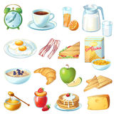 Breakfast Icon Set Royalty Free Stock Photography