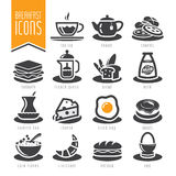Breakfast icon set Stock Photos