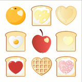 Breakfast icons Royalty Free Stock Image