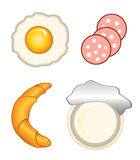 Breakfast icons Stock Photos