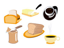 Breakfast Icons Royalty Free Stock Photography