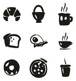 Breakfast Icons Freehand Fill Royalty Free Stock Image